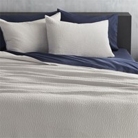Cb2 Lilo Silver Grey King Coverlet