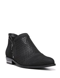 Fergie Ida Perforated Leather Slip On Oxfords Black