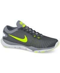 Nike Women's Flex Supreme Tr 4 Wide Training Sneakers From Finish Line Cool Grey Volt Wolf Grey
