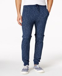 Ring Of Fire Convertible Zip Off Joggers Navy Marl