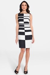 Tahari Graphic Print Sheath Dress Multi