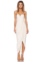 Shona Joy Bustier Draped Maxi Dress Beige