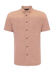 Label Lab Driver Check Short Sleeve Shirt Ecru
