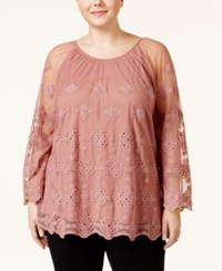 American Rag Plus Size Long Sleeve Lace Tunic Only At Macy's