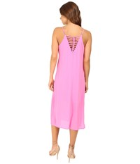Brigitte Bailey Darilyn Spaghetti Strap Midi Dress With Back Detail Neon Pink Women's Dress