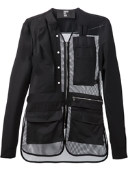 Hood By Air Mesh Panel Zip Front Jacket