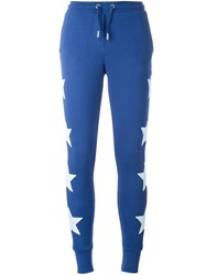 Zoe Karssen Patched Stars Track Pants Blue