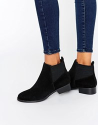 Miss Kg Flat Ankle Boot With Elastic Back Black