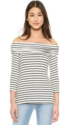 Hye Park And Lune Aimee Sweater White And Black Stripes