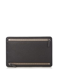 Smythson Panama Leather Currency Wallet Black Multi