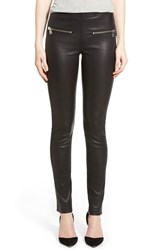 Women's Zadig And Voltaire 'Pharel' Leather Skinny Pants Black