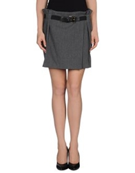 Atos Lombardini Mini Skirts Grey