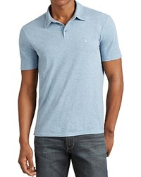 John Varvatos Star Usa Heathered Peace Slim Fit Polo Shirt Atlantic Blue