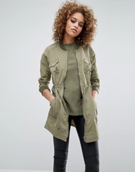Noisy May Shea Lightweight Bomber Jacket Mermaid Green