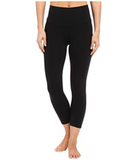 Alo Yoga High Waist Airbrush Capris Black Women's Capri