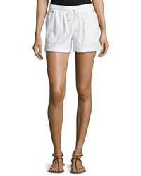 Candc California C And C California Drawstring Rolled Cuff Shorts White