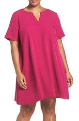 Adrianna Papell Plus Size Women's Short Sleeve Trapeze Dress