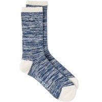 Maple Hikisoroe Melange Sock Blue
