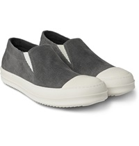 Rick Owens Cap Toe Corduroy Slip On Sneakers