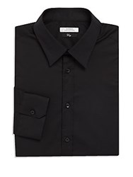 Versace Classic Fit Cotton Blend Dress Shirt Black