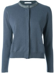 Fabiana Filippi Raw Edge Cardigan Blue