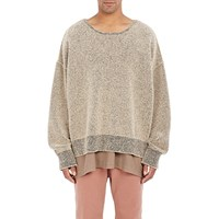 Adidas Originals By Kanye West Yeezy Season 1 Boucle Boxy Sweater Brown