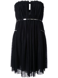Jay Ahr Silver Tone Detail Strapless Dress Black