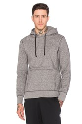 Reigning Champ Side Zip Pullover Hoodie Gray