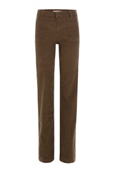 Vanessa Bruno Wide Leg Corduroy Pants Green