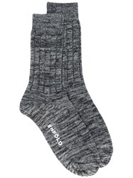 Enfold Blurry Stripes Socks Grey