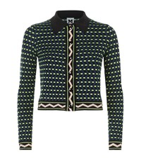 M Missoni Dot Knit Cropped Cardigan Female Multi