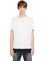 Andrea Pompilio Cotton T Shirt With Eyelets White