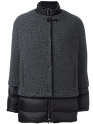 Fay Panelled Jacket Grey