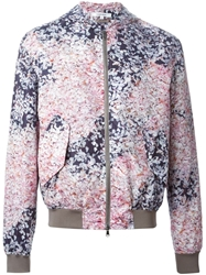 Carven Printed Bomber Jacket Pink And Purple