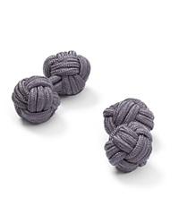 The Men's Store At Bloomingdale's Round Knot Cufflinks Charcoal