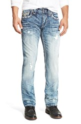 Rock Revival 'Emmet' Straight Leg Jeans Medium Blue