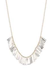 Sia Taylor Feather 18K Yellow Gold And Platinum Necklace Gold Platinum
