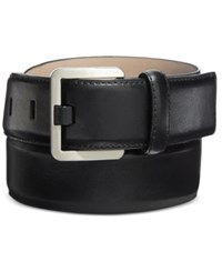Calvin Klein Feather Edge Stitch Belt Black Nickle
