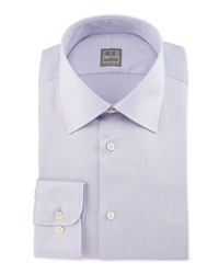 Ike Behar Basic Solid Dress Shirt Lilac Purple