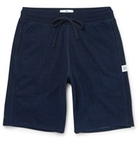Reigning Champ Loopback Cotton Jersey Shorts Blue