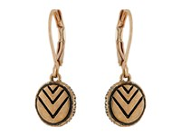 The Sak Etched Circle Drop Earrings Gold Earring