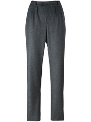 A.P.C. Front Pleat Tailored Trousers Grey