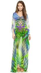 Lotta Stensson Electric Jungle Maxi Poncho Caftan