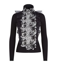 Giambattista Valli Guipure Panel Turtleneck Jumper Female Black
