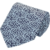Penrose London 'Mitchum B' Tie Blue