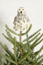 Anthropologie Perched Owl Tree Topper Ivory