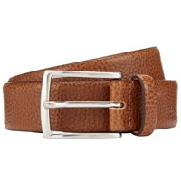 John Lewis Made In Italy Pebble Leather Belt Tan