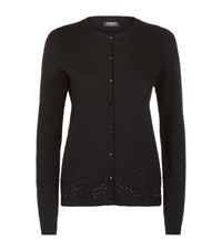 Harrods Of London Sparkle Knit Cashmere Cardigan Female Black