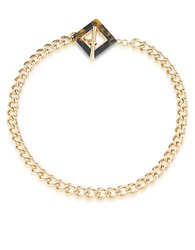 Carolee Fashion Ave Tortoise Shell Collar Necklace Gold