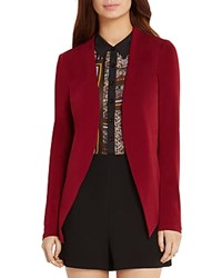 Bcbgeneration Tuxedo Blazer Wine Red
